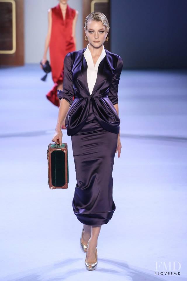 Jessica Stam featured in  the Ulyana Sergeenko fashion show for Spring/Summer 2014