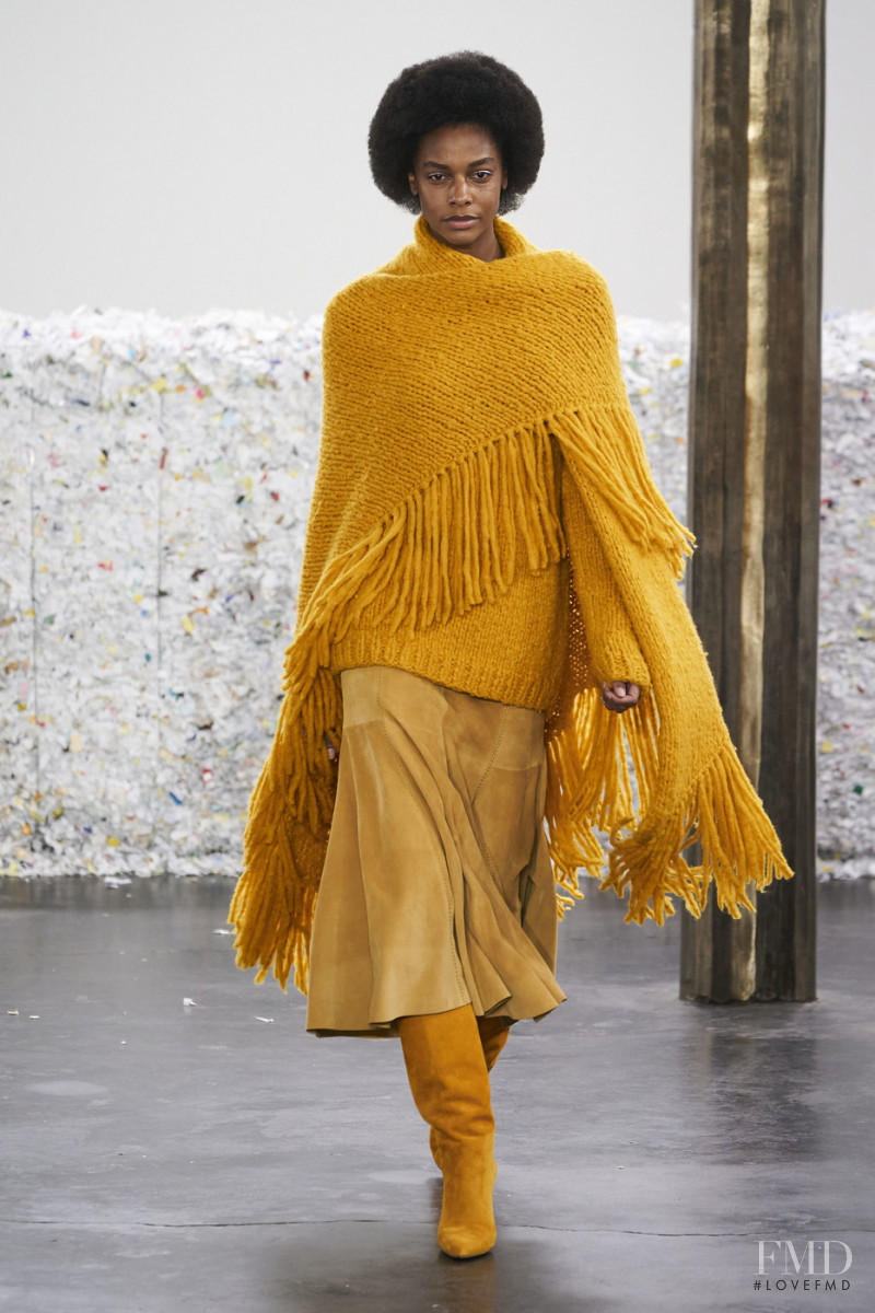 Karly Loyce featured in  the Gabriela Hearst fashion show for Autumn/Winter 2020