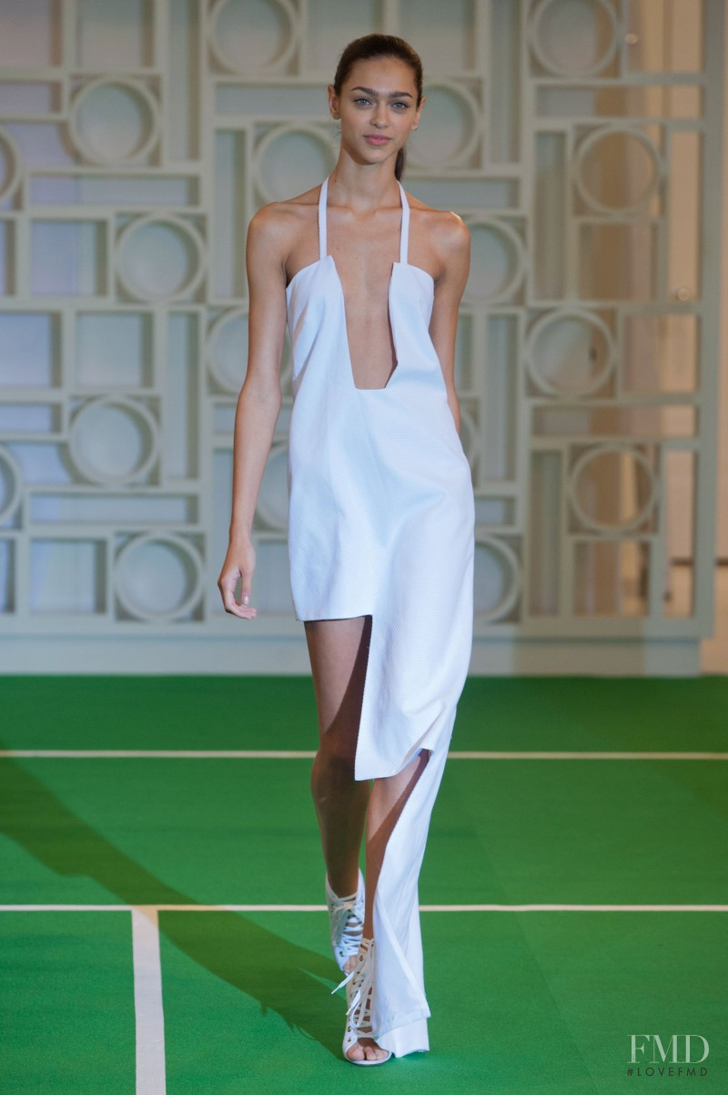 Zhenya Katava featured in  the Lisa Perry fashion show for Spring/Summer 2014