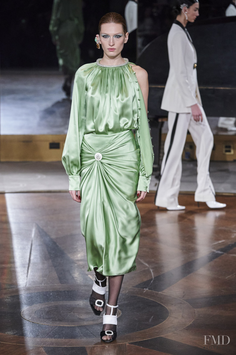 Liz Kennedy featured in  the Prabal Gurung fashion show for Autumn/Winter 2020