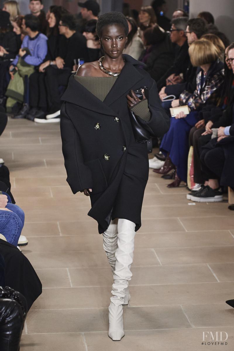 Anok Yai featured in  the Proenza Schouler fashion show for Autumn/Winter 2020