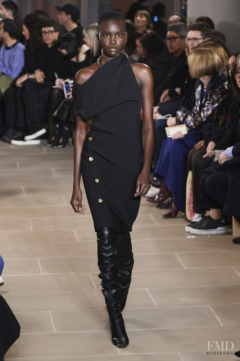 Achenrin Madit featured in  the Proenza Schouler fashion show for Autumn/Winter 2020