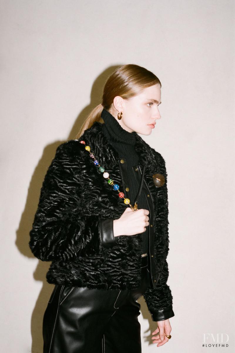 Anna Mila Guyenz featured in  the Staud lookbook for Autumn/Winter 2020