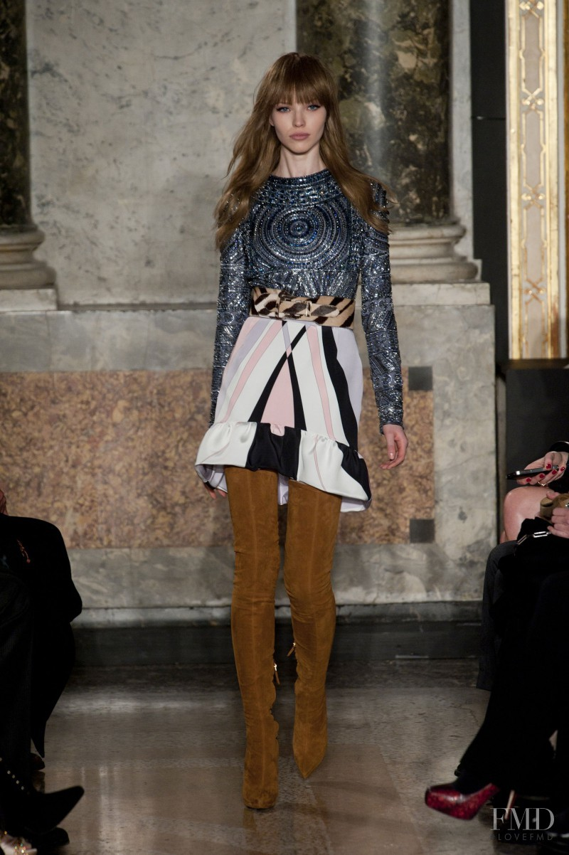 Sasha Luss featured in  the Emilio Pucci fashion show for Autumn/Winter 2013
