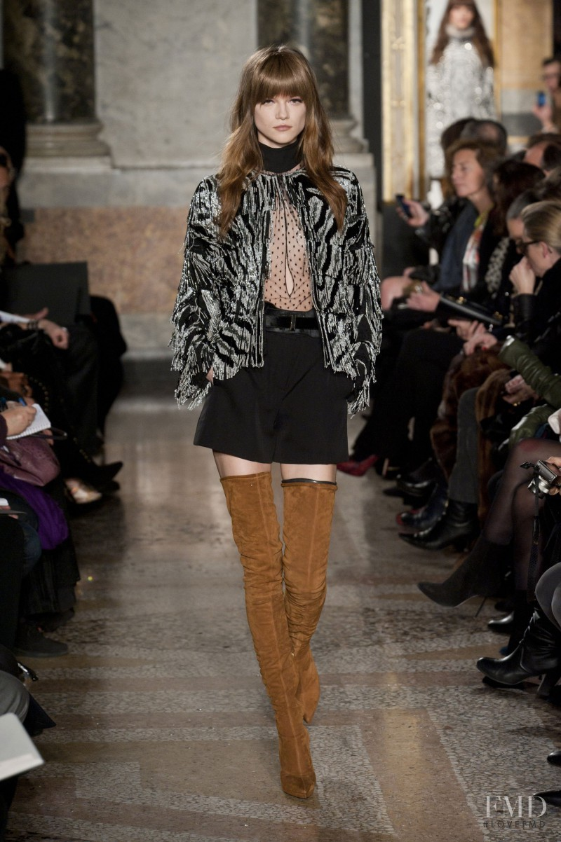 Kasia Struss featured in  the Emilio Pucci fashion show for Autumn/Winter 2013
