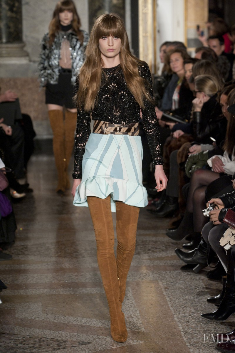 Nadja Bender featured in  the Emilio Pucci fashion show for Autumn/Winter 2013