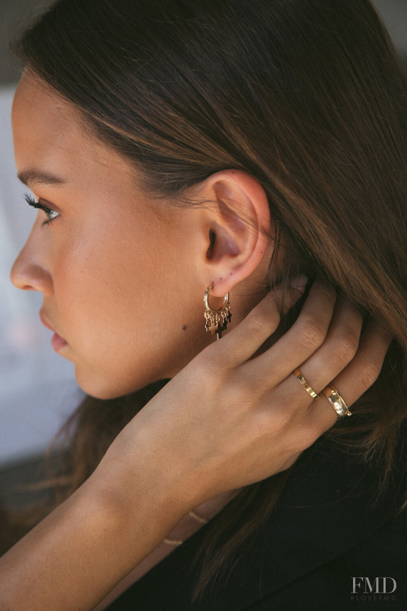 Isabelle Mathers featured in  the Love Isabelle Jewellery advertisement for Autumn/Winter 2020