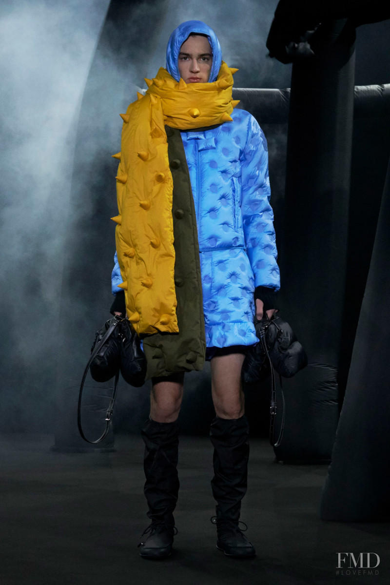 Niks Gerbasevskis featured in  the Moncler 1 JW Anderson fashion show for Autumn/Winter 2020