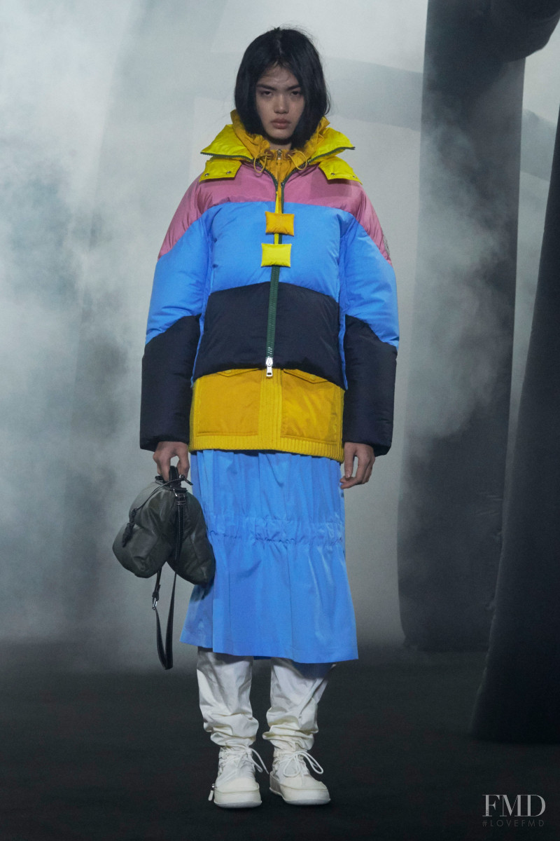 Qun Ye featured in  the Moncler 1 JW Anderson fashion show for Autumn/Winter 2020