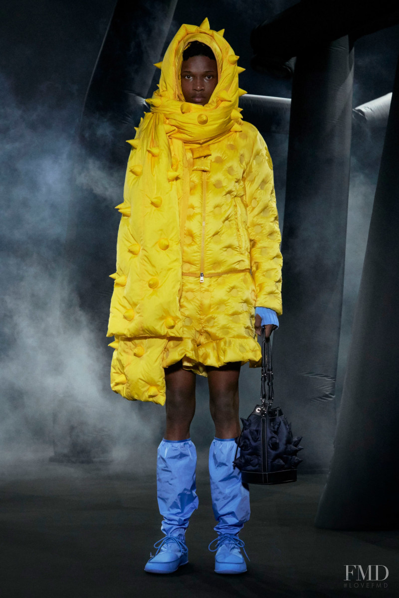 Malik Anderson featured in  the Moncler 1 JW Anderson fashion show for Autumn/Winter 2020