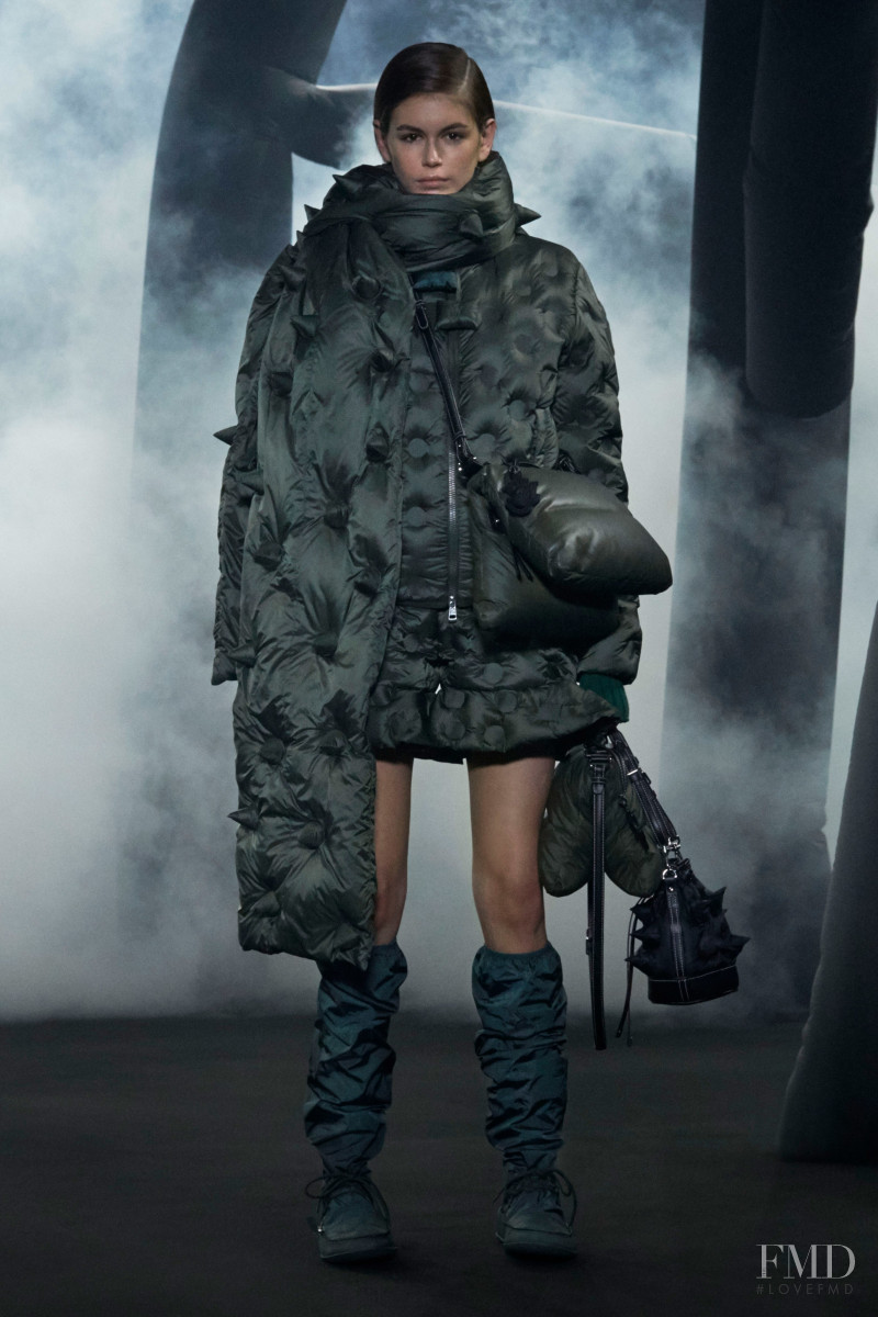 Kaia Gerber featured in  the Moncler 1 JW Anderson fashion show for Autumn/Winter 2020