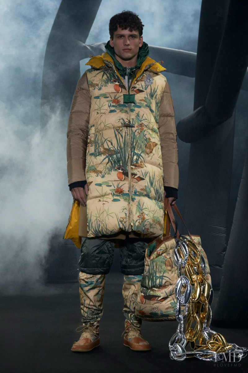 Simon Nessman featured in  the Moncler 1 JW Anderson fashion show for Autumn/Winter 2020