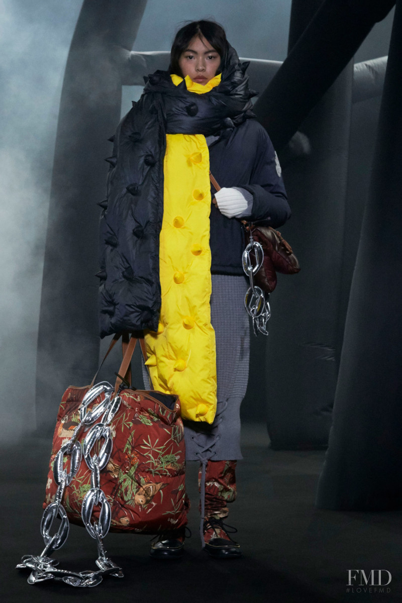 Qin Tian featured in  the Moncler 1 JW Anderson fashion show for Autumn/Winter 2020