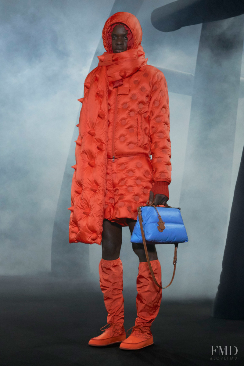 Elhadji Mar featured in  the Moncler 1 JW Anderson fashion show for Autumn/Winter 2020