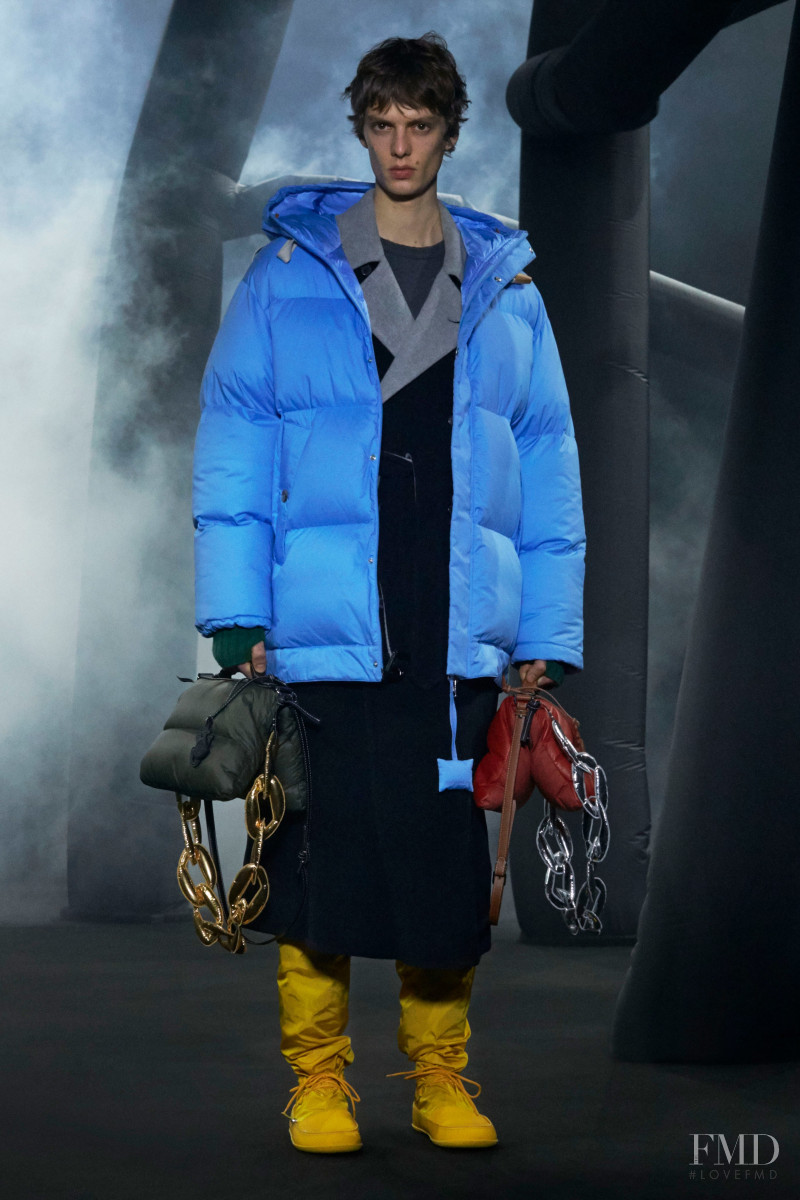 Leon Dame featured in  the Moncler 1 JW Anderson fashion show for Autumn/Winter 2020