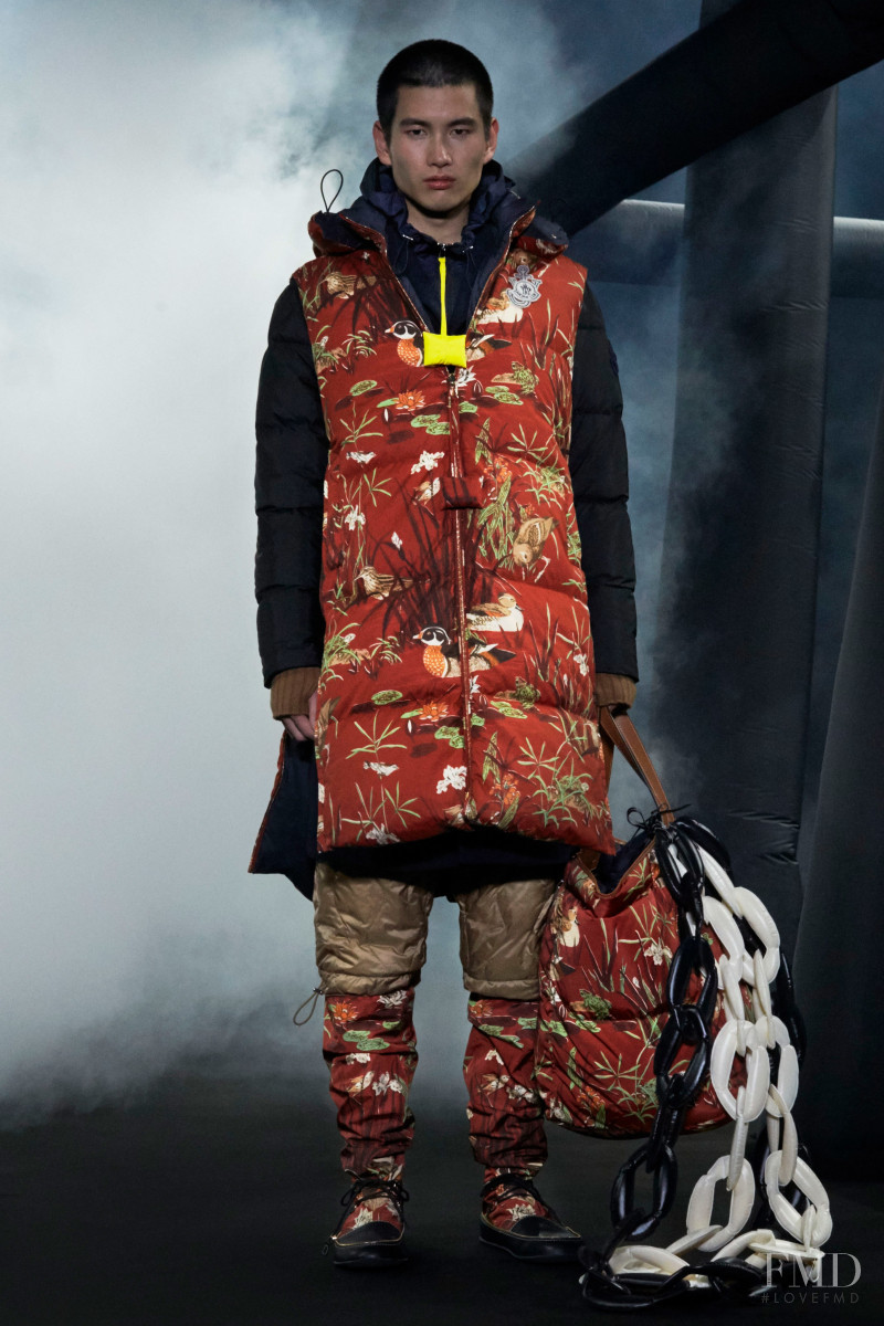 Kohei Takabatake featured in  the Moncler 1 JW Anderson fashion show for Autumn/Winter 2020
