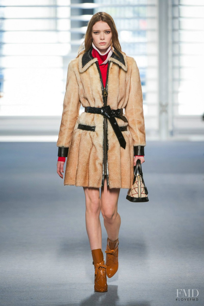 Julia Hafstrom featured in  the Louis Vuitton fashion show for Autumn/Winter 2014