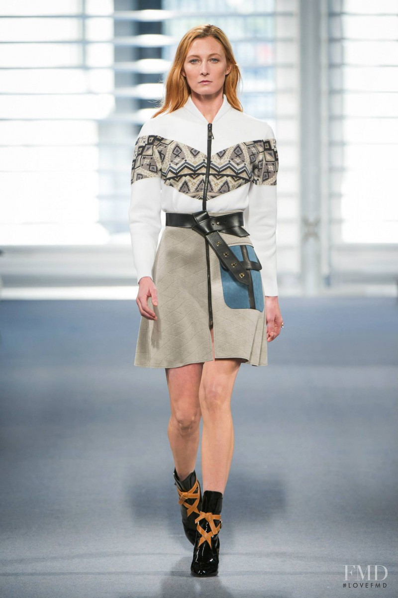 Maggie Rizer featured in  the Louis Vuitton fashion show for Autumn/Winter 2014