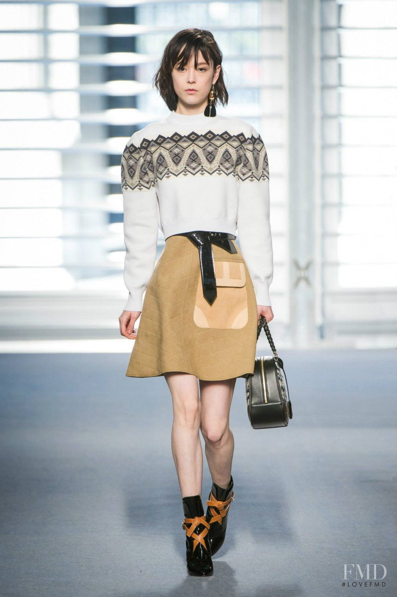 Mae Lapres featured in  the Louis Vuitton fashion show for Autumn/Winter 2014