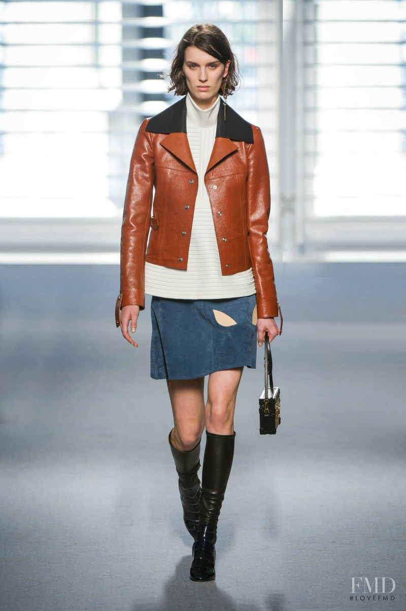 Marte van Haaster featured in  the Louis Vuitton fashion show for Autumn/Winter 2014