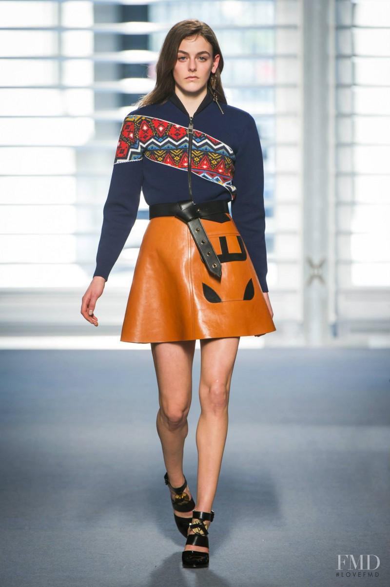 Daria Piotrowiak featured in  the Louis Vuitton fashion show for Autumn/Winter 2014