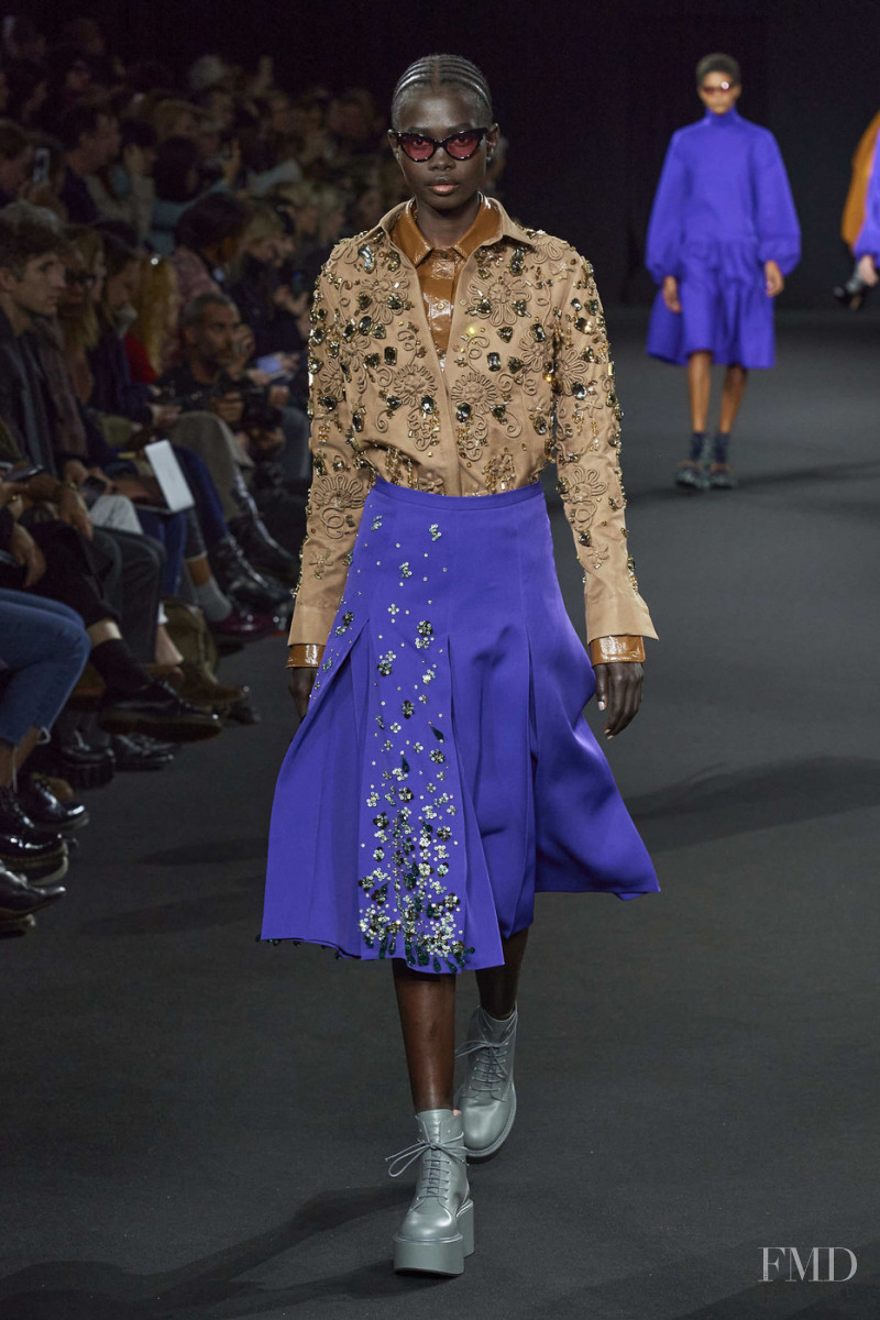 Mammina Aker featured in  the Rochas fashion show for Autumn/Winter 2020