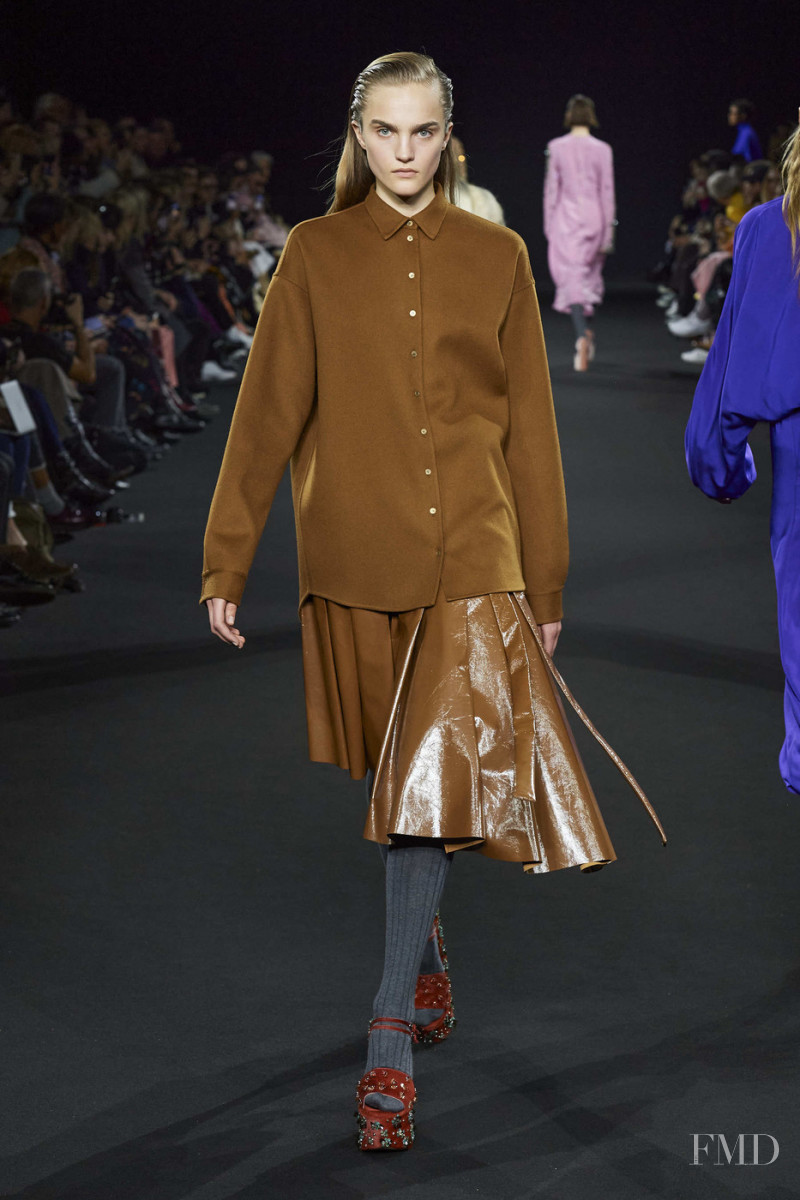 Josefine Lynderup featured in  the Rochas fashion show for Autumn/Winter 2020