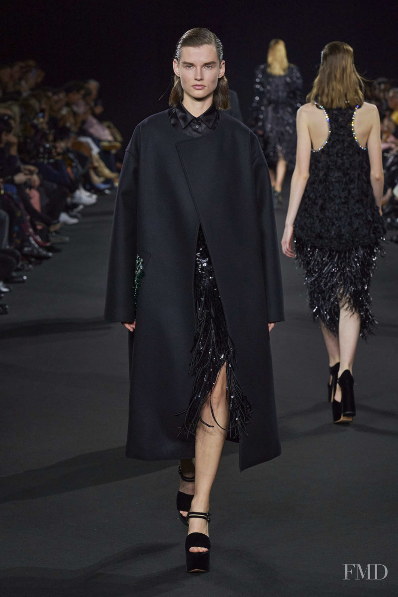 Giedre Dukauskaite featured in  the Rochas fashion show for Autumn/Winter 2020