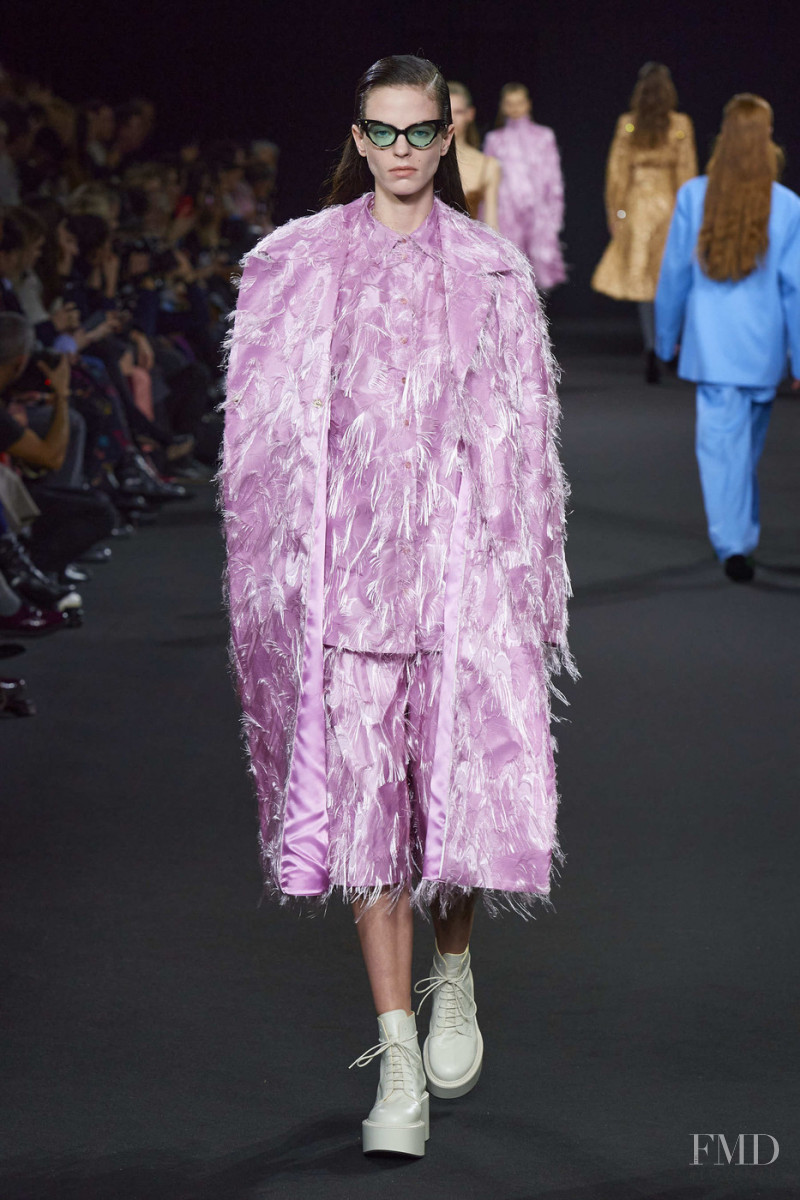 Sydney Sylvester featured in  the Rochas fashion show for Autumn/Winter 2020