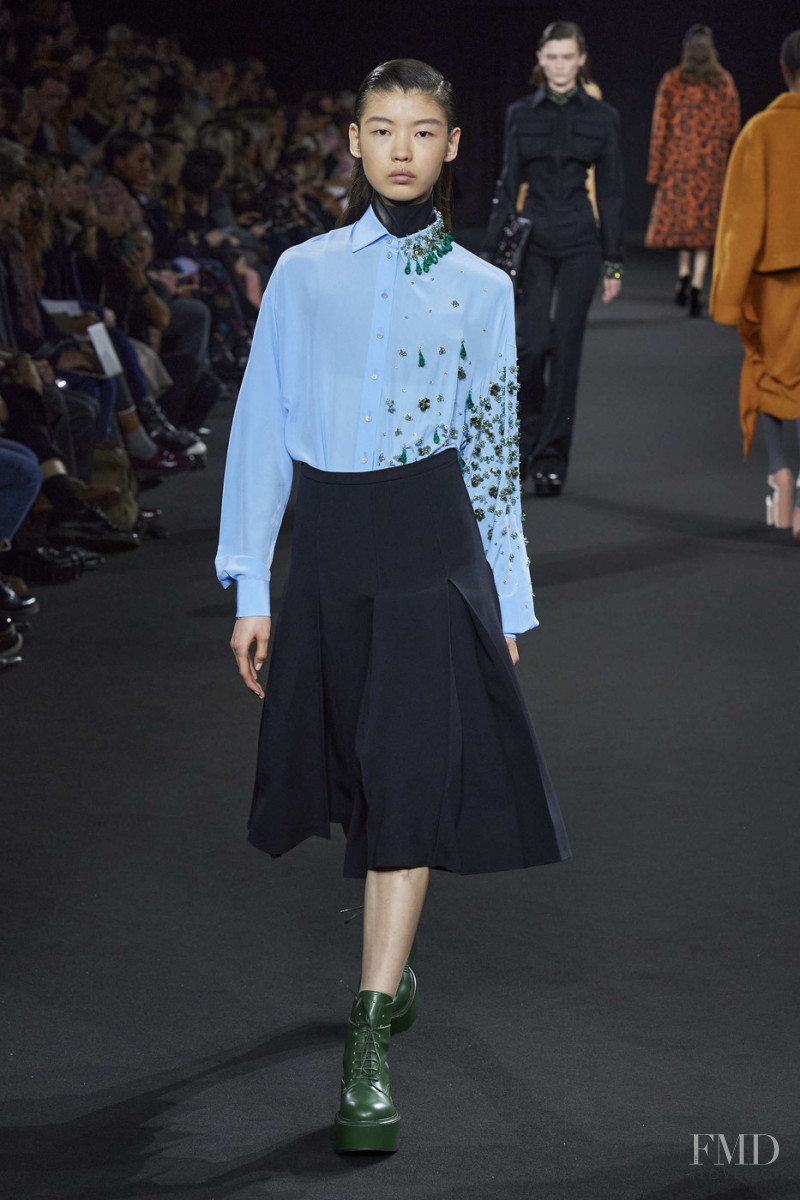 Tang He featured in  the Rochas fashion show for Autumn/Winter 2020