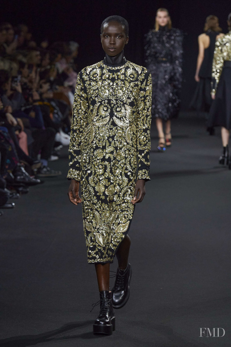 Ajok Madel featured in  the Rochas fashion show for Autumn/Winter 2020