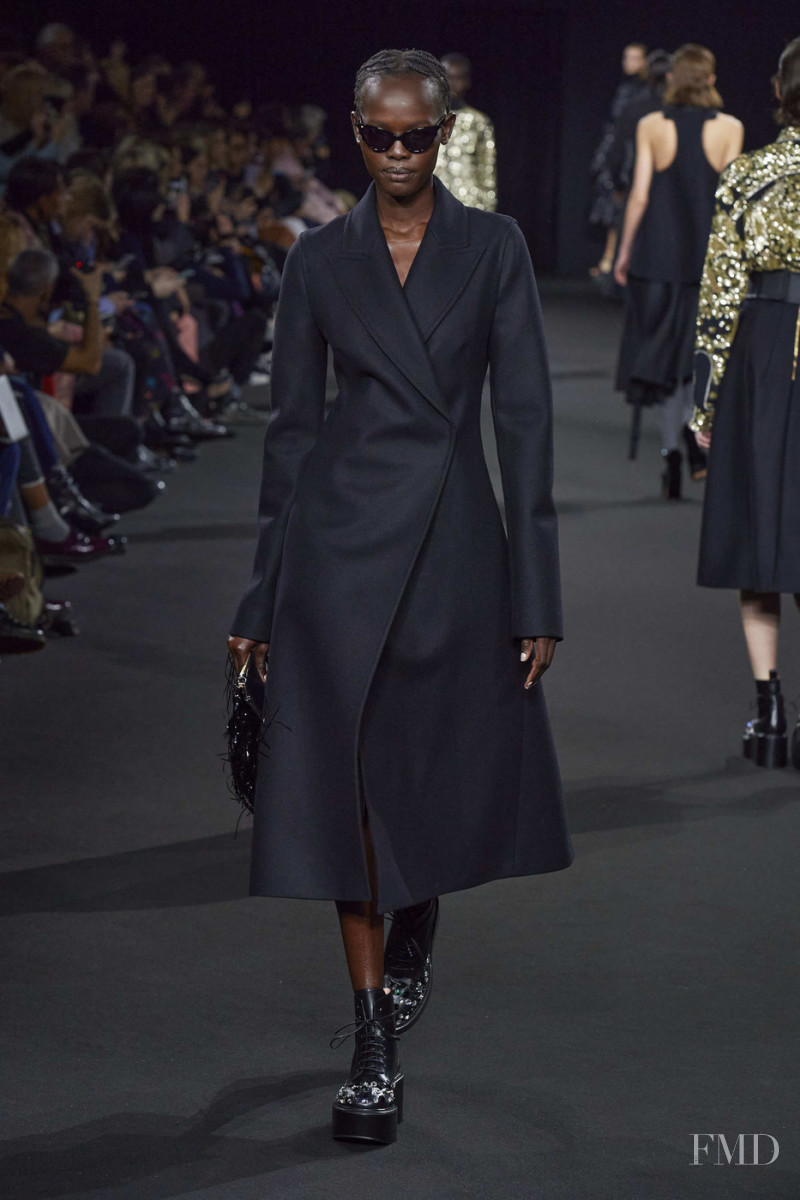Shanelle Nyasiase featured in  the Rochas fashion show for Autumn/Winter 2020
