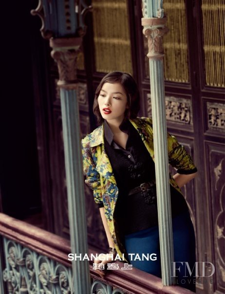 Fei Fei Sun featured in  the Shanghai Tang advertisement for Autumn/Winter 2009