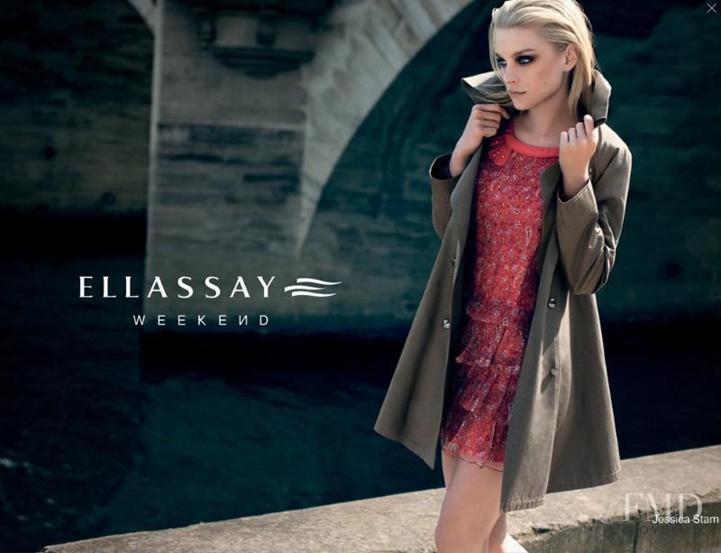 Jessica Stam featured in  the Ellassay advertisement for Autumn/Winter 2011