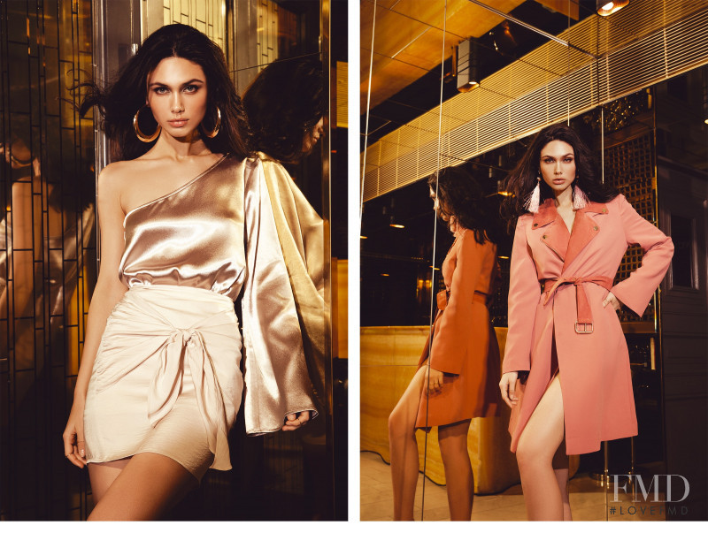 Victoria Bronova featured in  the Ivy Revel lookbook for Summer 2018