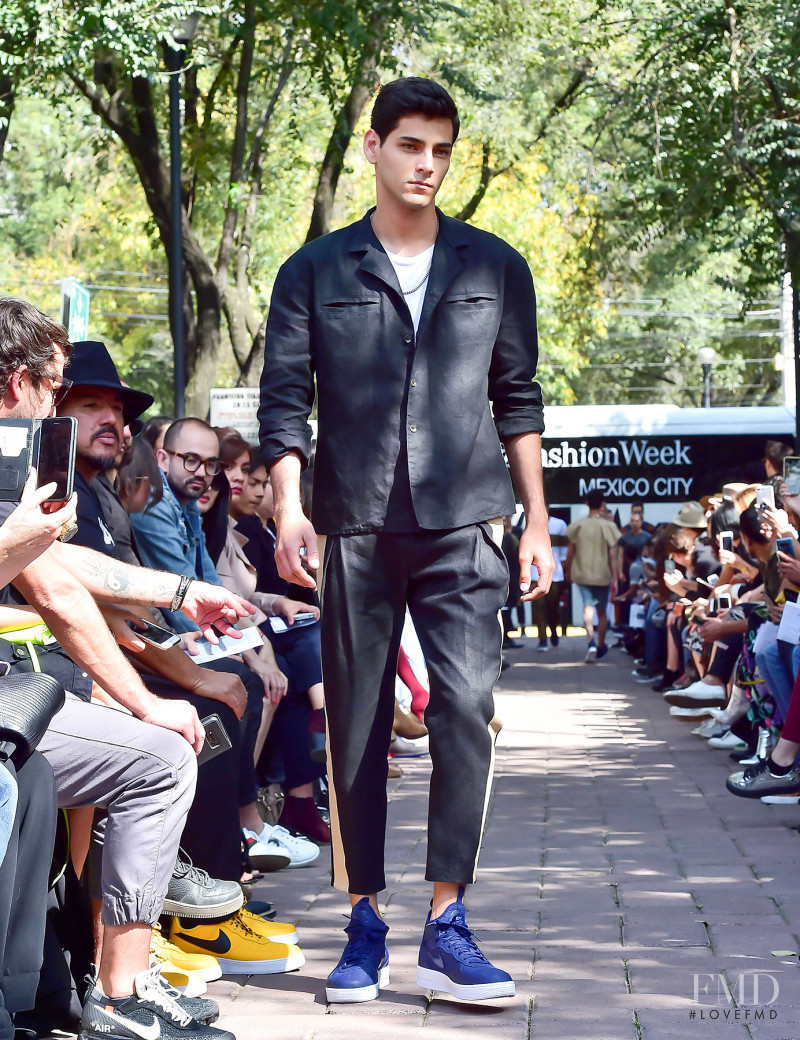 Rafael Sanchez featured in  the The Pack fashion show for Spring/Summer 2018