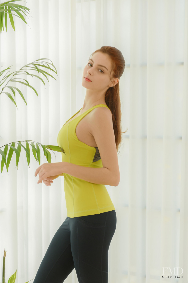 Marina Bondarko featured in  the Elle Sport catalogue for Spring/Summer 2020