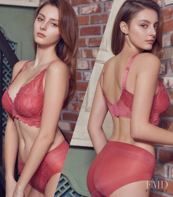Marina Bondarko featured in  the Exabra lookbook for Spring/Summer 2020