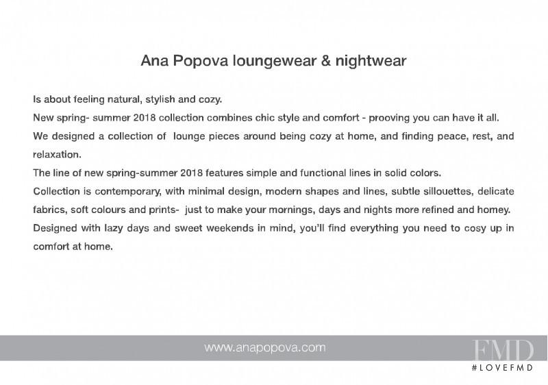 Ana Popova lookbook for Spring/Summer 2018