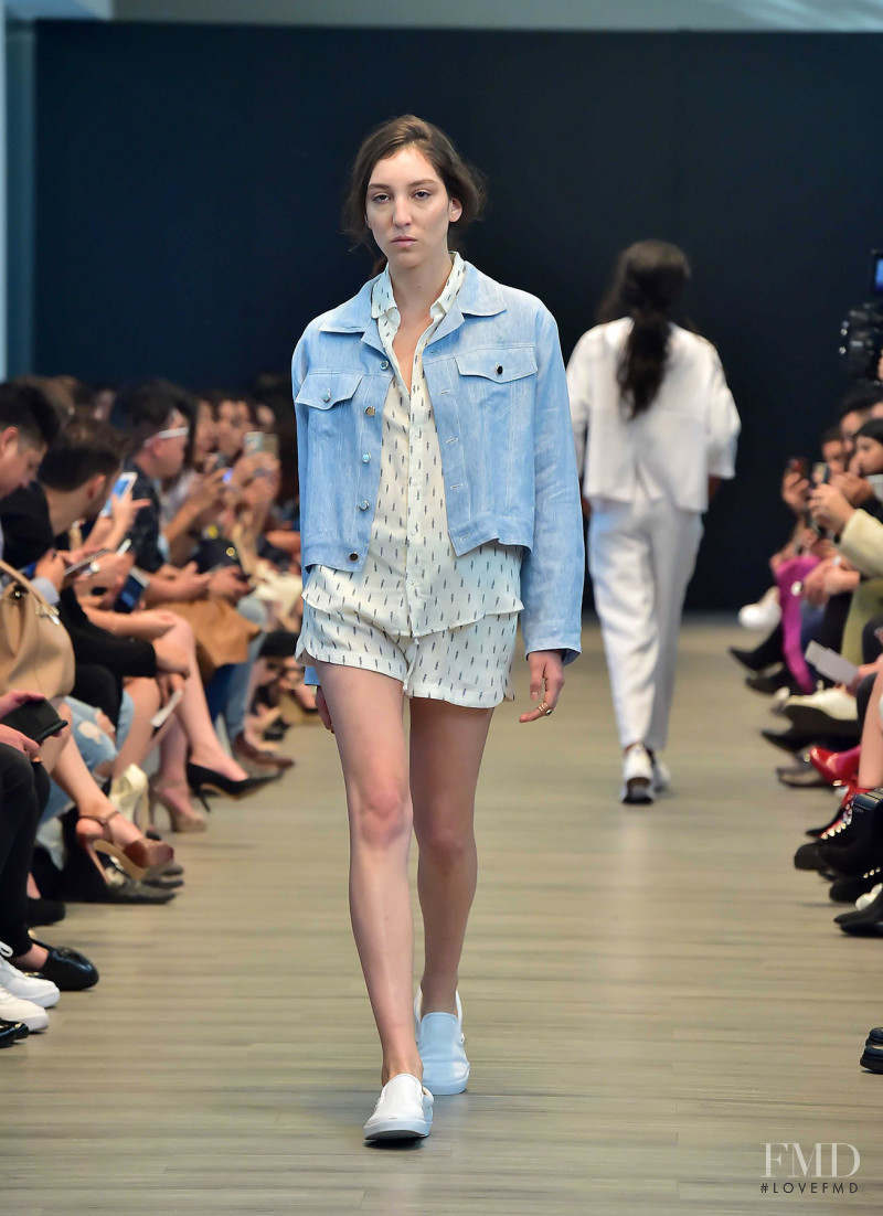 Andrea Carrazco featured in  the Shinae Park fashion show for Spring/Summer 2018