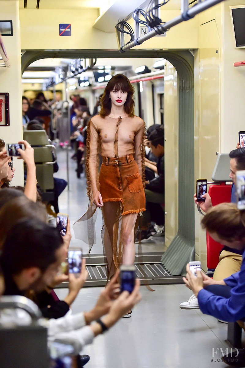 Karime Bribiesca featured in  the Mancandy fashion show for Spring/Summer 2018