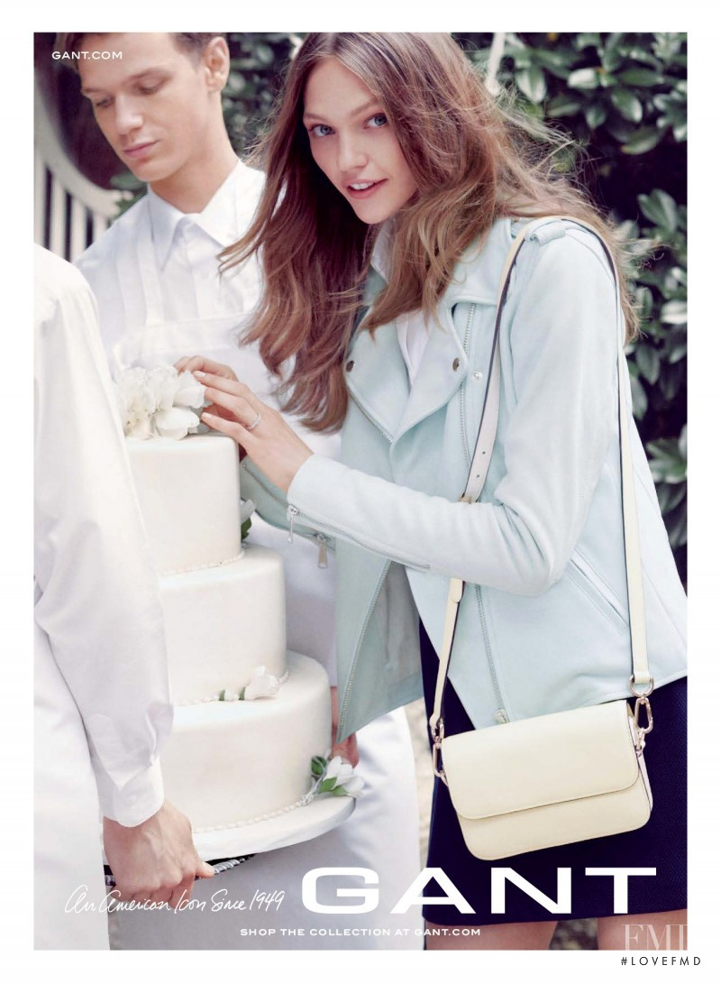 Sasha Pivovarova featured in  the Gant advertisement for Spring/Summer 2014