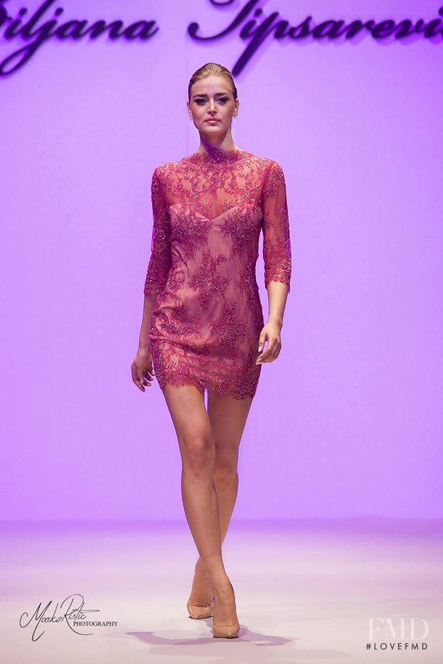 Sofija Milosevic featured in  the Biljana Tipsarevic La Storia Di Una Donna fashion show for Cruise 2014