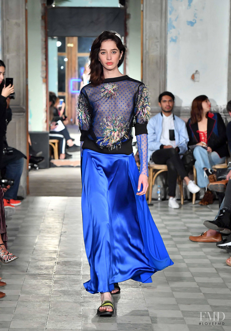 Karime Bribiesca featured in  the Alexia Ulibarri fashion show for Spring/Summer 2018