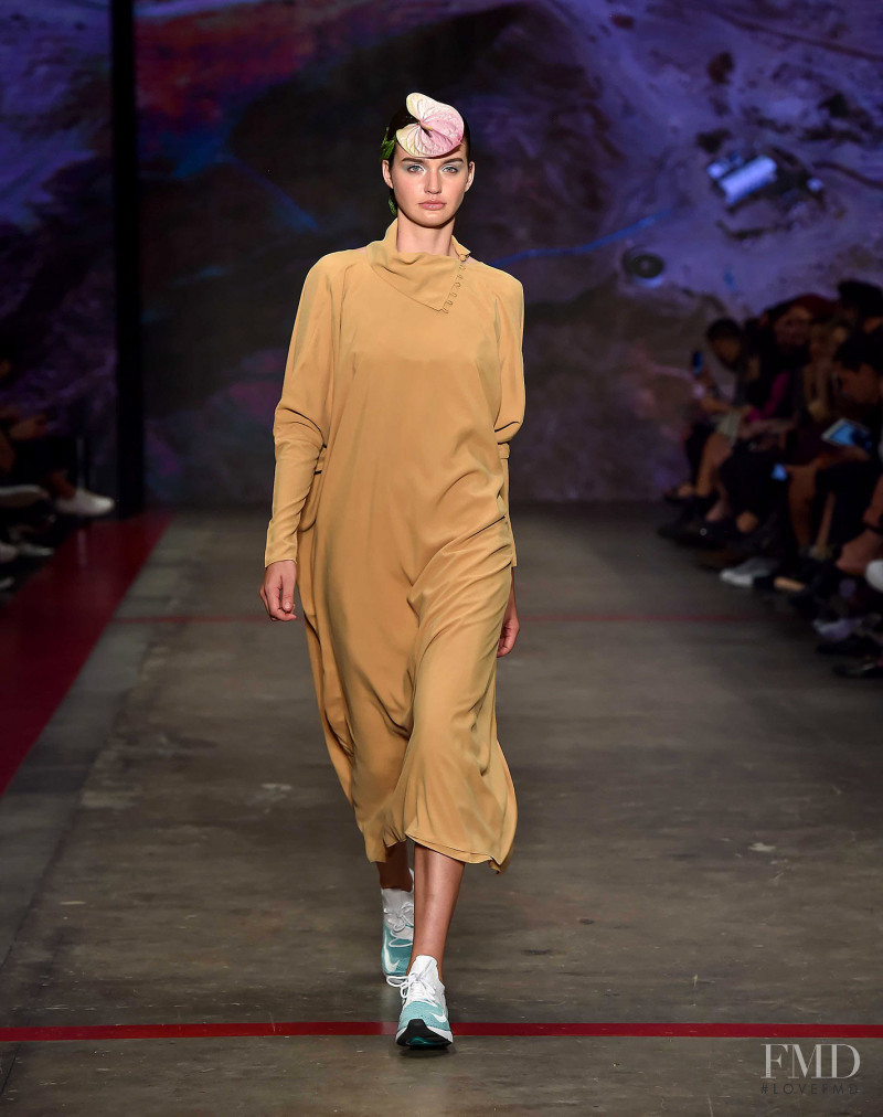 Karla Laviada featured in  the Cynthia Buttenklepper fashion show for Autumn/Winter 2018