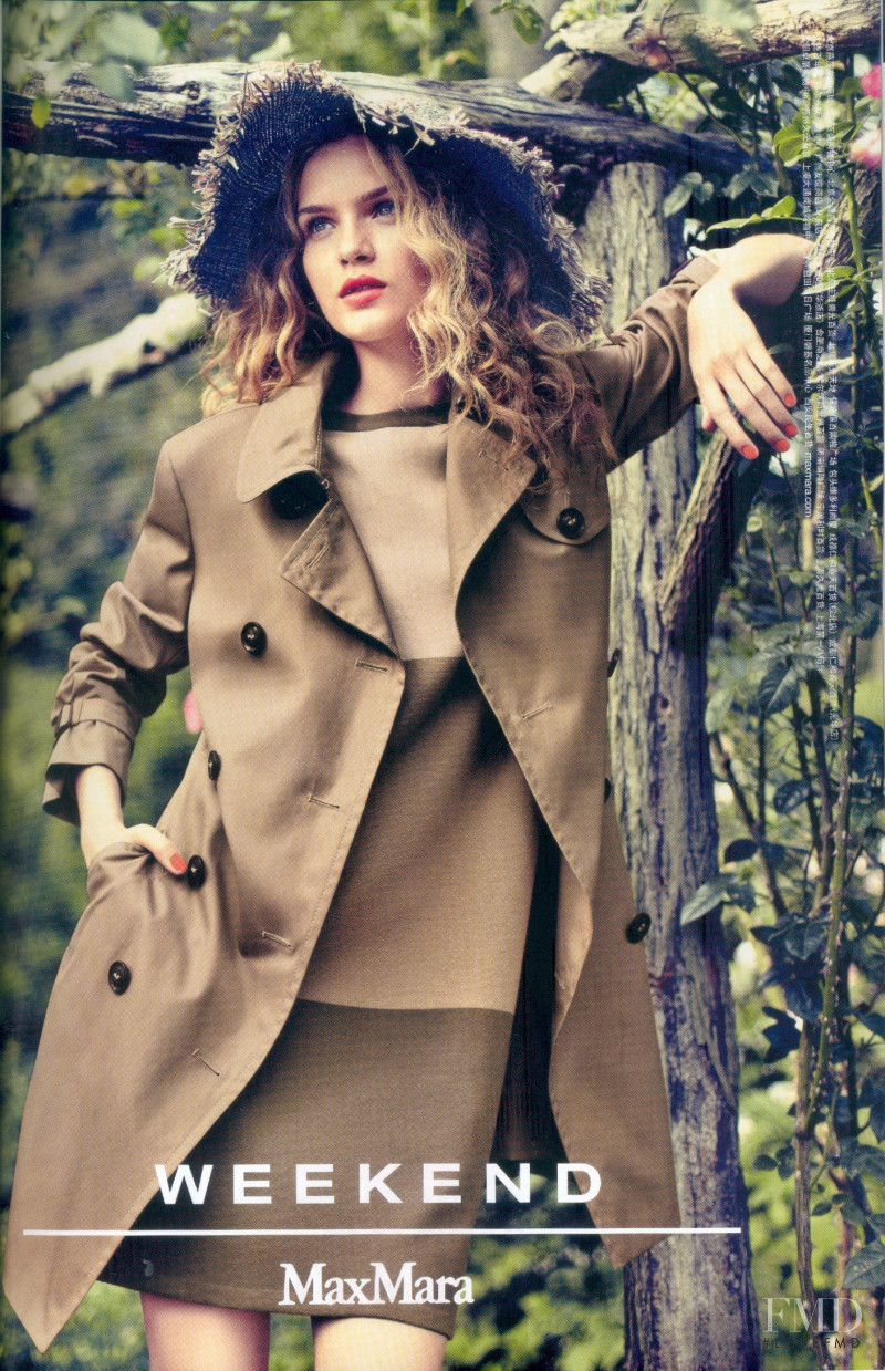 Josephine Skriver featured in  the Weekend Max Mara advertisement for Spring/Summer 2012