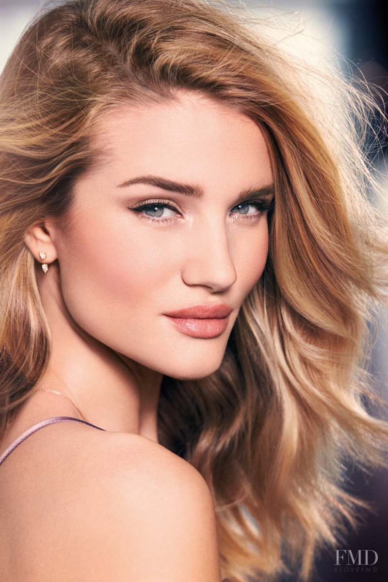 Rosie Huntington-Whiteley featured in  the Marks & Spencer Autograph Makeup advertisement for Spring/Summer 2016
