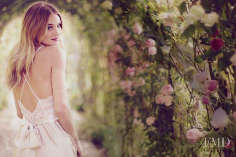Rosie Huntington-Whiteley featured in  the Marks & Spencer Autograph Fragrance advertisement for Spring/Summer 2015