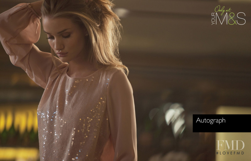 Rosie Huntington-Whiteley featured in  the Marks & Spencer advertisement for Autumn/Winter 2011