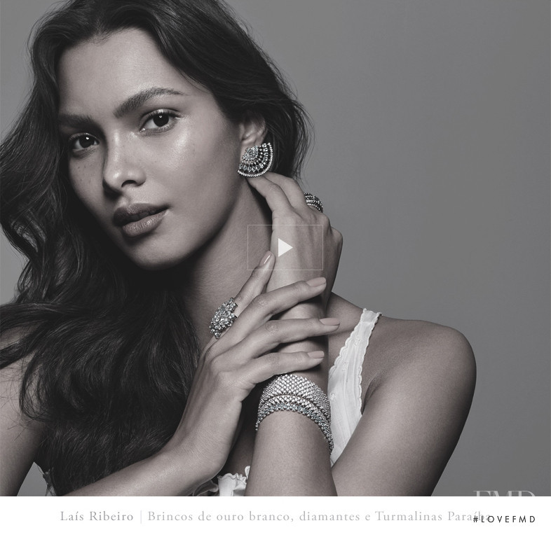 Lais Ribeiro featured in  the Talento Joias advertisement for Spring/Summer 2016